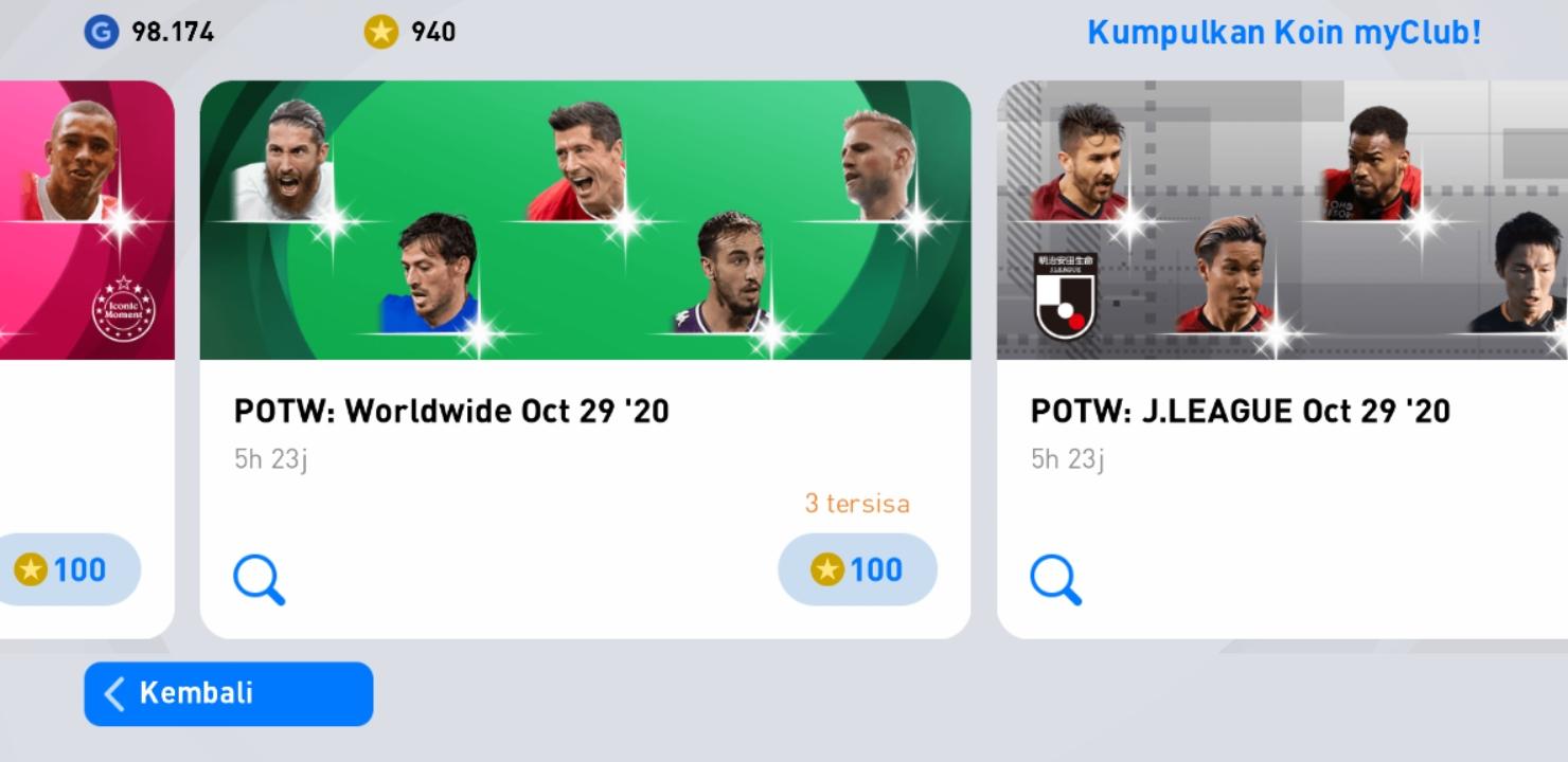 eFootball PES 2021 POTW Worldwide Nov 26 '20