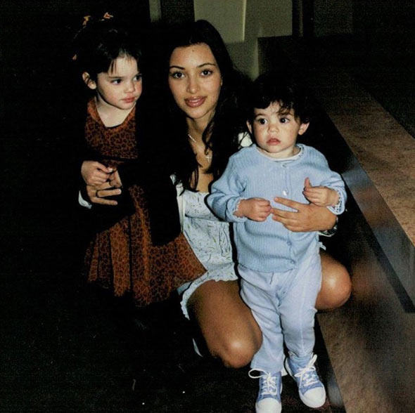 Surprised? This is Kim Kardashian with her sisters Kendall and Kylie Jenner