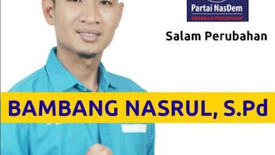 Gerakan Perubahan Semakin Nyata, Sosok Milenial Bambang Nasrul Bergabung di NasDem