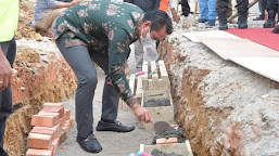 Bupati Bersama Kapolda Jambi Peletakan Batu Pertama Pembangunan Mapolres Batanghari