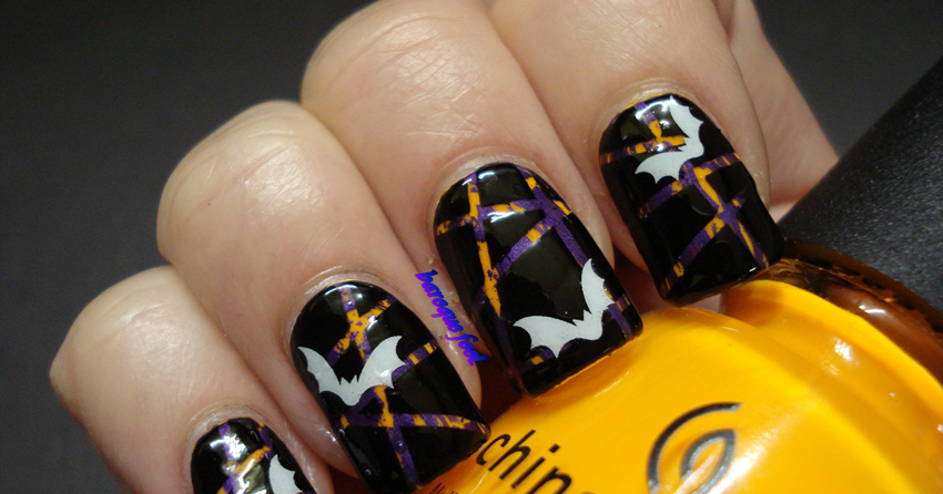 baroque fool: TUTORIAL: Subtle Halloween nail art