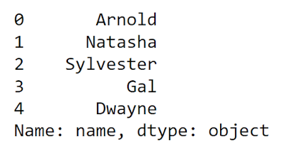 First name output