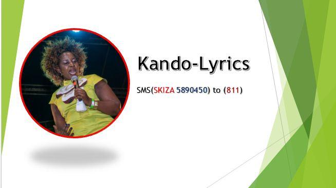 Kando Lyrics by Gloria Muliro