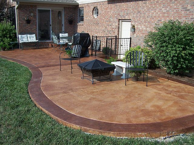 best stained concrete patio