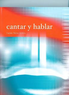 Portada del libro de Carme Tulon: Cantar y hablar