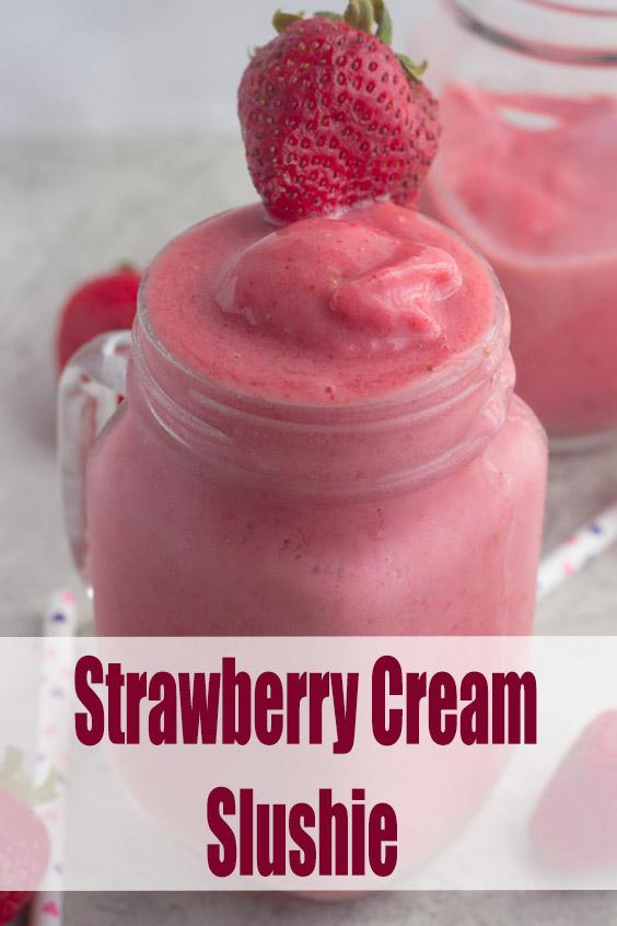 Strawberry Cream Slushie