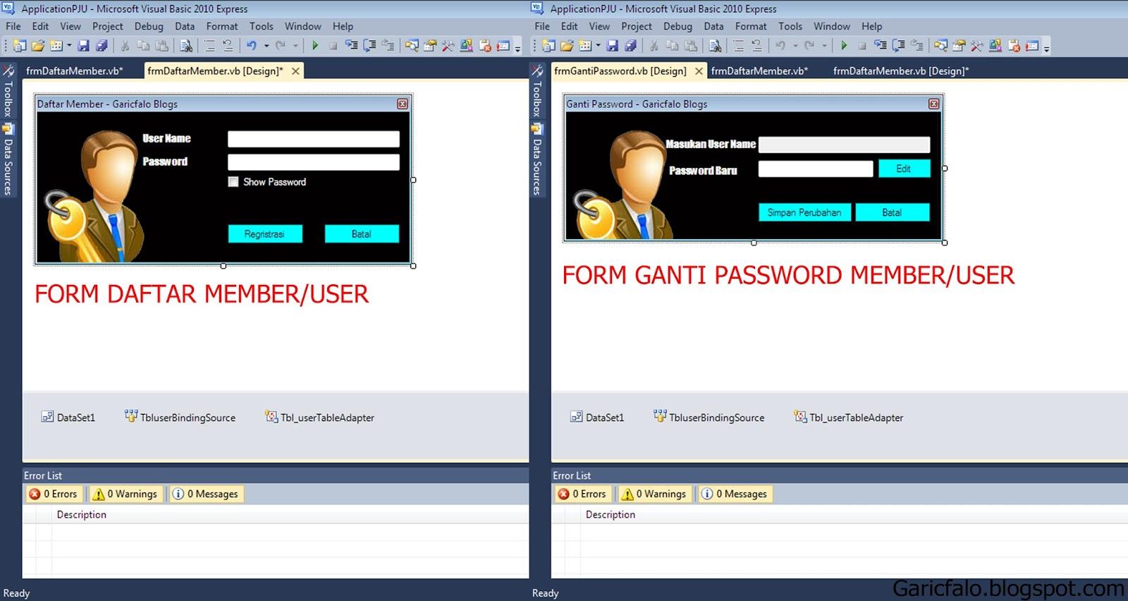 Cara Membuat Form Daftar Member dan Ganti Password Di ...