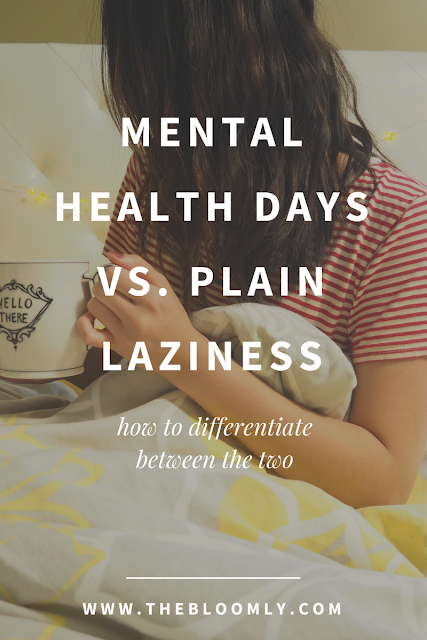 How to Differentiate Between a Mental Health Day and Just Being Lazy
