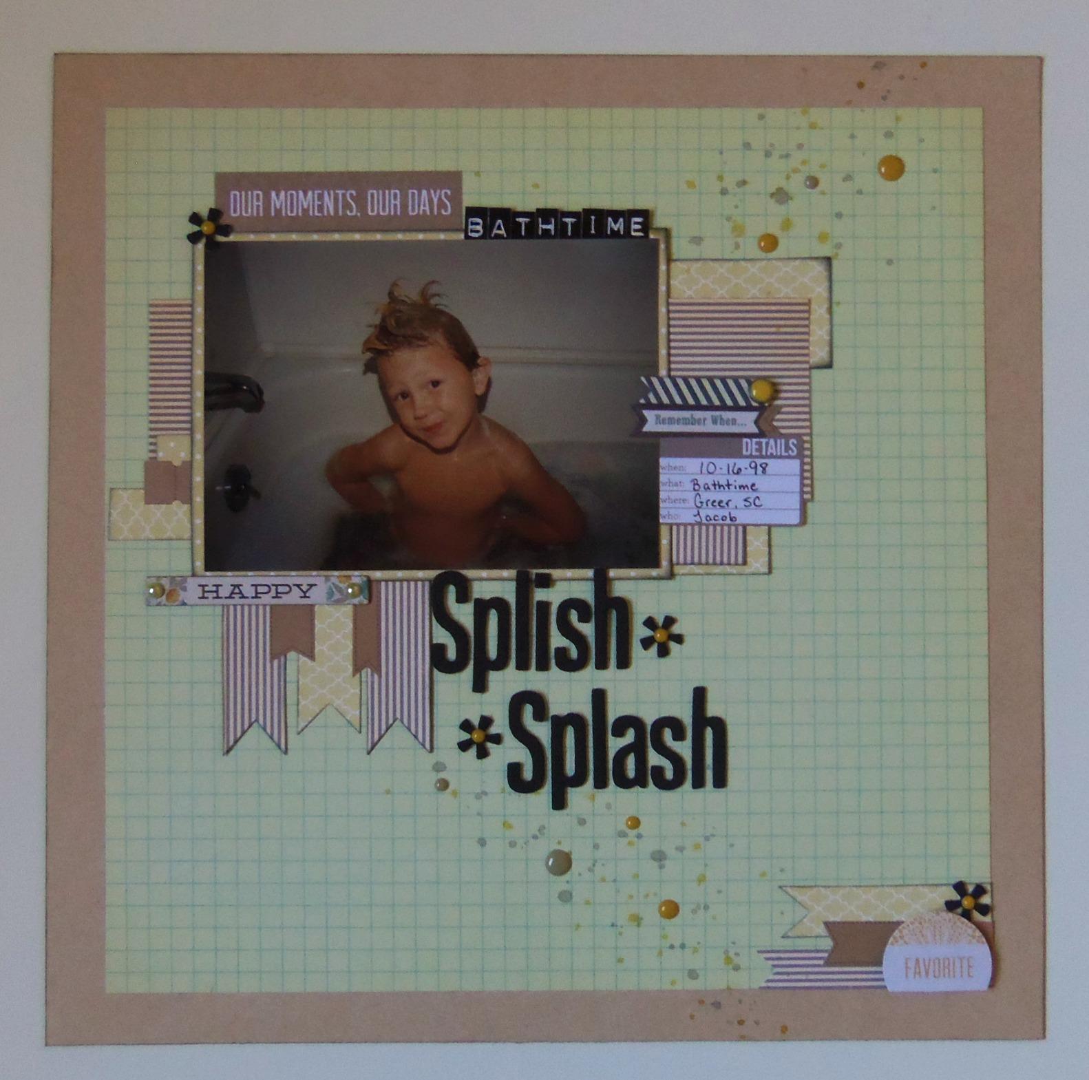 paper for people splish splash taking a bath. Black Bedroom Furniture Sets. Home Design Ideas