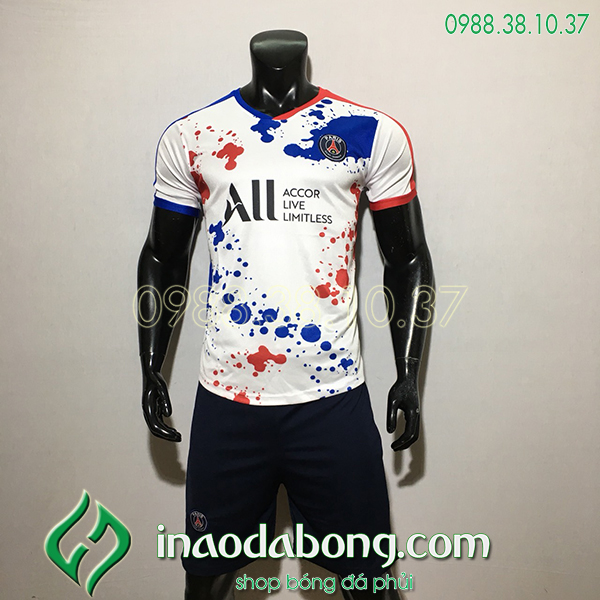 Áo Bóng Đá Training CLB PSG1 Màu Trắng 2020