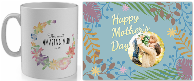 A mothers day cup and a card
