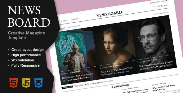 Download Creative Blog Magazine Publisher HTML Template