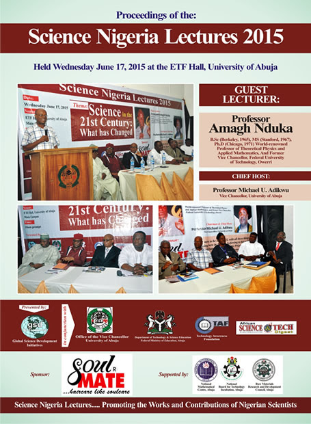 Giving Honour to Whom it is Due: Science Nigeria Lectures 2015