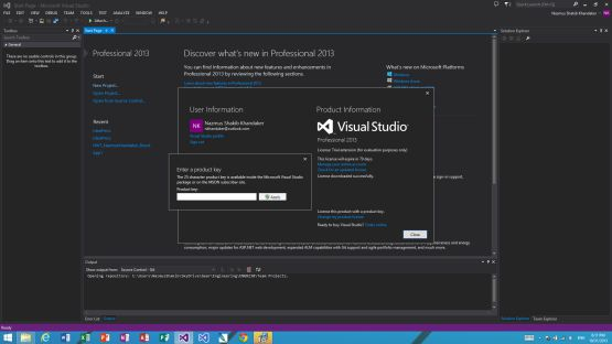 Visual Studio 2013 screenshot 2