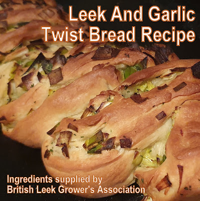 Leek And Garlic Twist Bread Recipe (for the British Leek Growers Association)