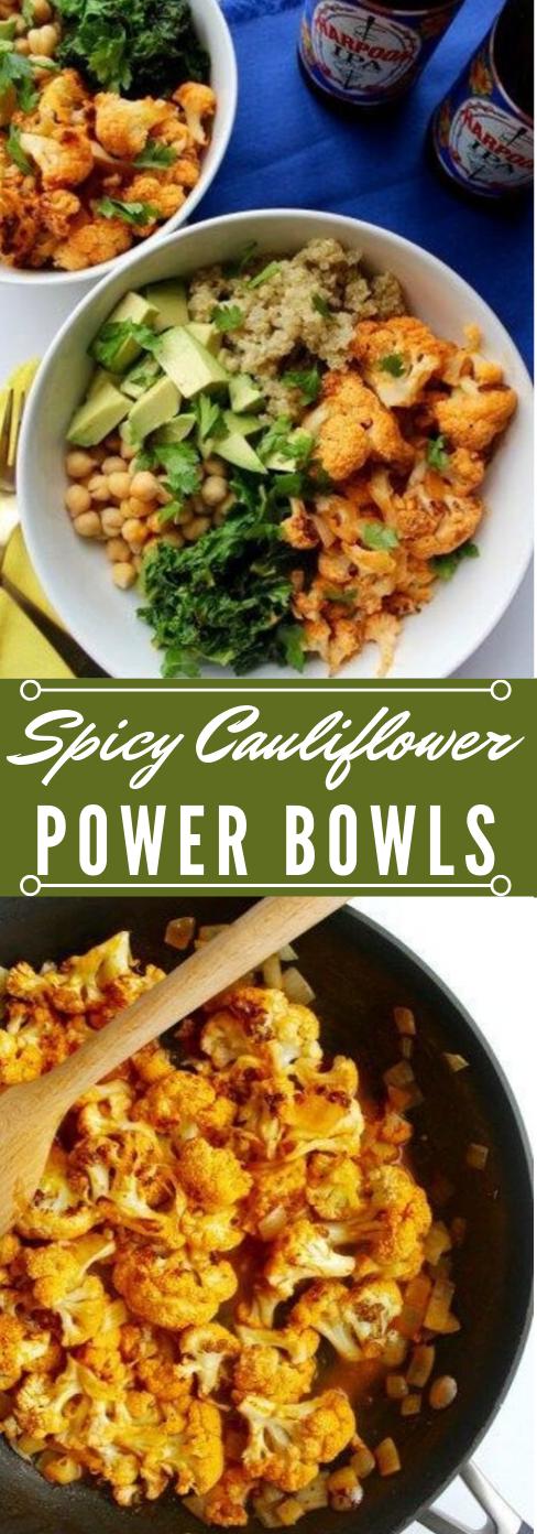 Spicy Cauliflower Power Bowl #vegetables #cauliflower #creamy #food #easy