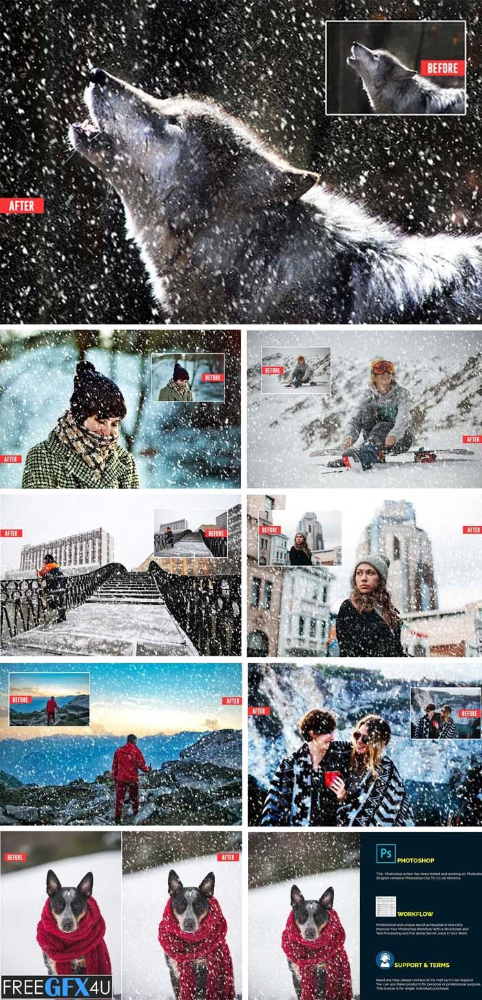 Soft Snowfall Photoshop Action