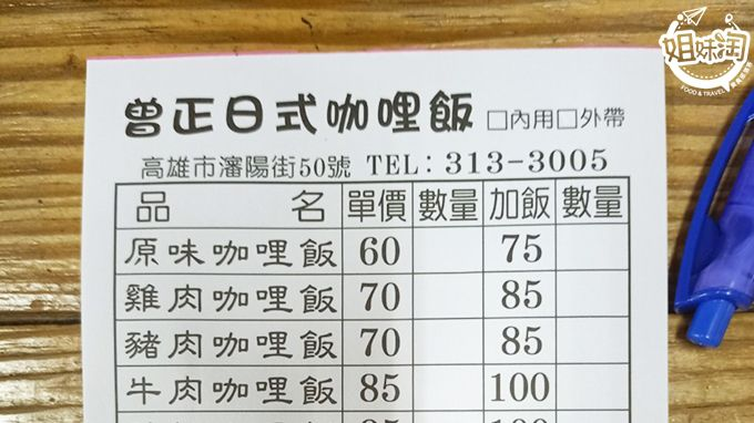 高雄三民區日式推薦-曾正日式咖哩