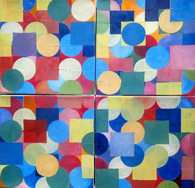 kate mackay, painting, non objective, factory 49, geometric abstraction,