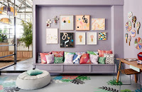 Staggering interior design with purple color