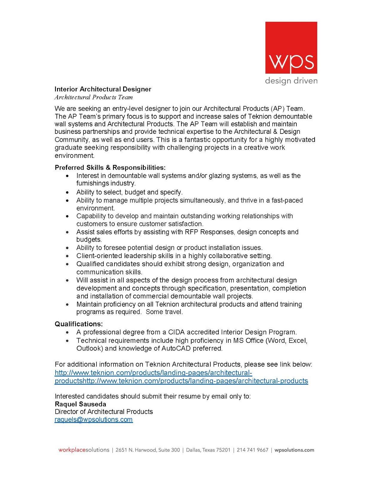 Interior design assistant jobs utah for Interior design assistant jobs