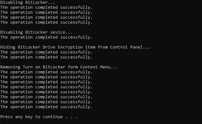 Cách vô hiệu hóa nhanh tính năng BitLocker trong Windows 10