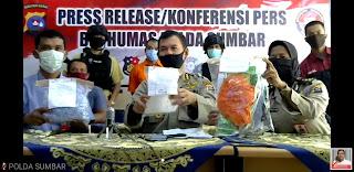 Polda Sumbar Tangkap 956,85 gram Shabu dan 4.770 Ekstasi Asal Riau di Dharmasraya