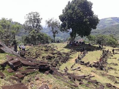 Gunung Padang Megalithic Pyramid in Indonesia