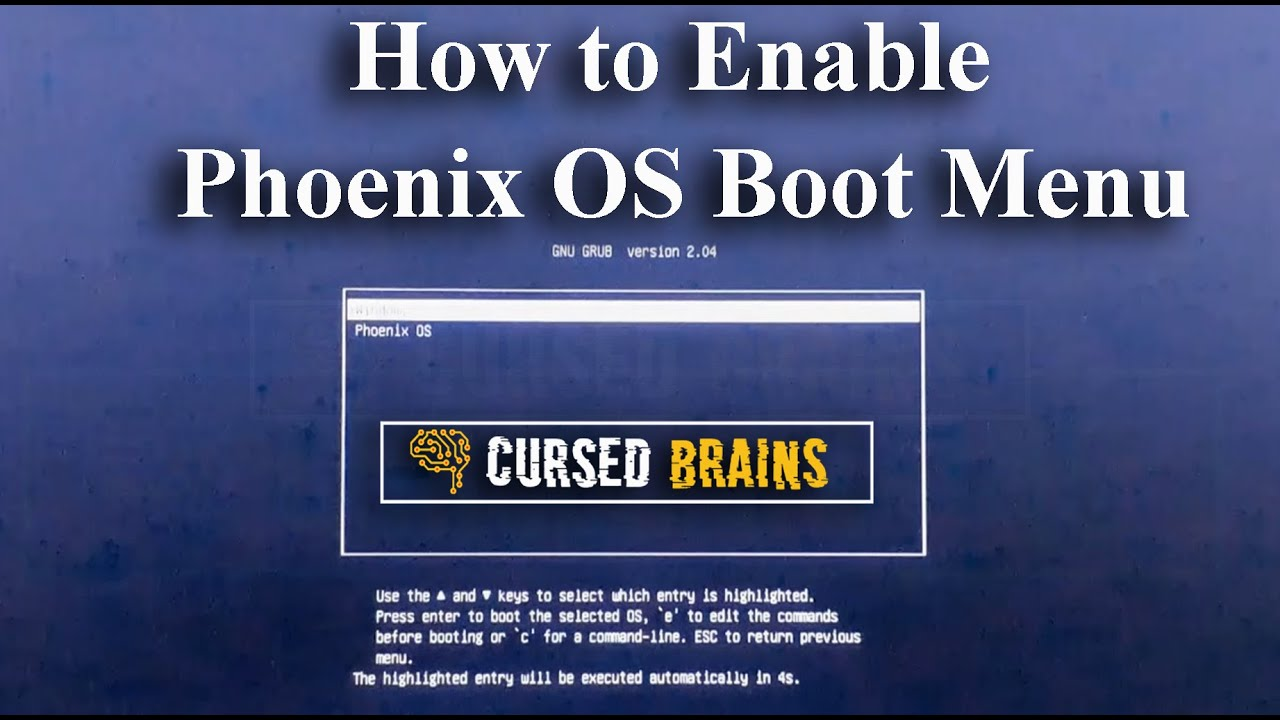 How to Enable Phoenix OS Boot Menu | Not Booting | Boot Problem Fixed | 3 Methods