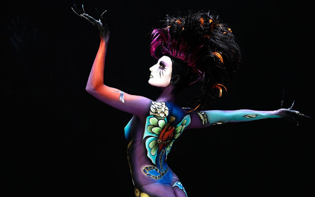 Artist Create Bodypainting Art at the 15th World Bodypainting Festival in Poertschac, Austria