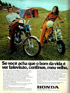 propaganda moto Honda - 1973;  1973; brazilian advertising cars in the 70s; os anos 70; história da década de 70; Brazil in the 70s; propaganda carros anos 70; Oswaldo Hernandez;