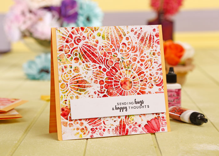 A Simple Cards and Papercraft Card using Color Burst by Kim Dellow