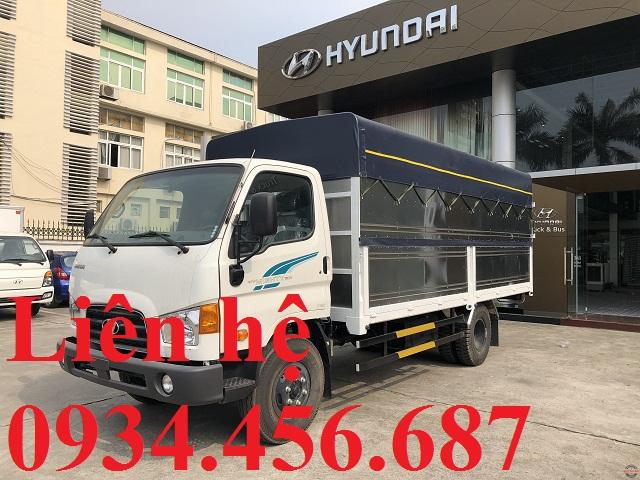 Giá xe 7 tấn Hyundai 110sp thùng bạt tại Thái Nguyên