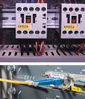 Etiketten für Kabel und Schalter