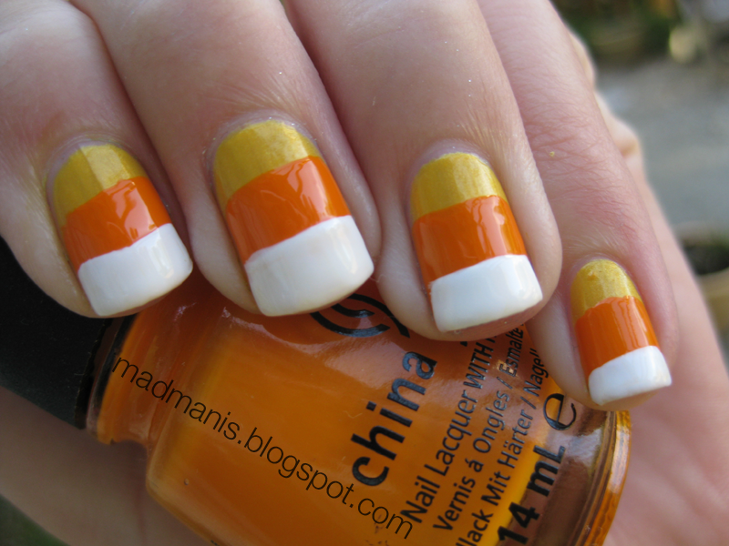 MaD Manis: Candy Corn Nails!
