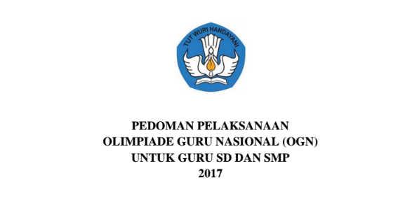 Juknis Olimpiade Guru Nasional (OGN) 2017 PDF
