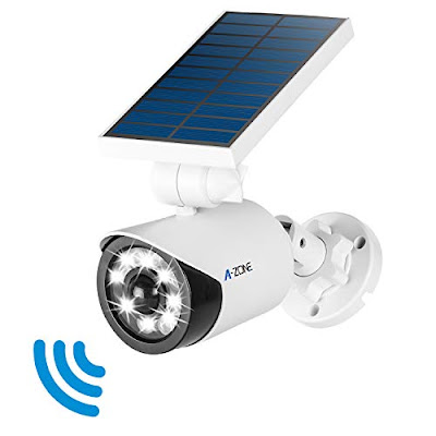 A-Zone Solar Security Lamp Outdoor Wireless Solar-Powered Wall Spotlight with Motion Sensor