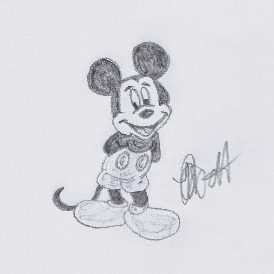 Disney Illustration Study: Classic Disney www.JoLinsdell.com, Mickey Mouse
