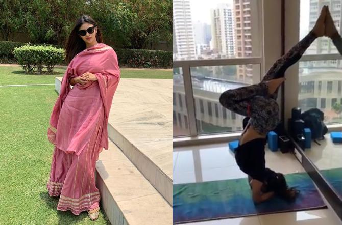 Khabar Kesari: Actress Mouni Roy Share Her Yoga Video on Instagram