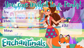 printable Enchantimals invitations