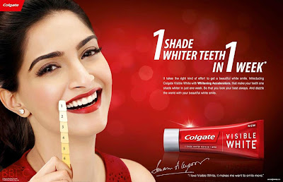 Sonam Kapoor photo shoot For Colgate Visible White ad