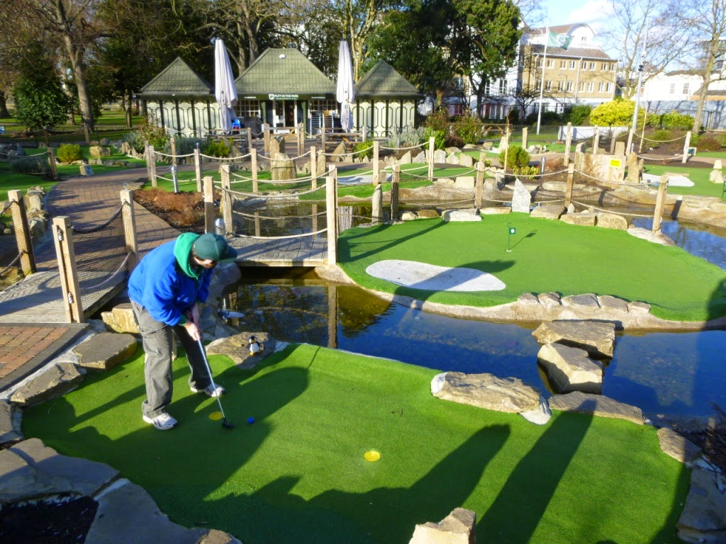 Putt in the Park Adventure Golf course in Wandsworth Park, London
