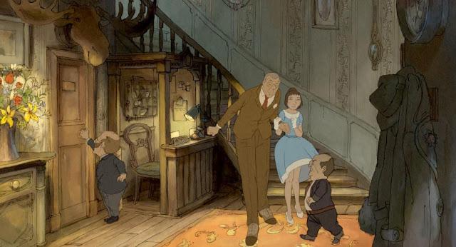 Fotograma de la película de animación El Ilusionista de Sylvain Chomet