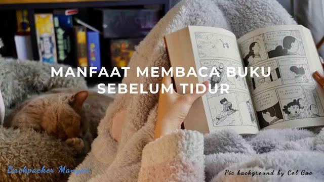 Manfaat membaca buku sebelum tidur