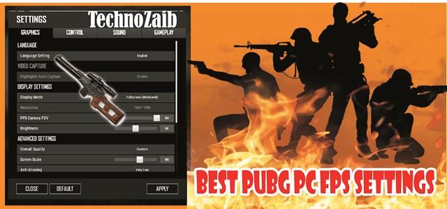 Best PUBG Pc FPS Settings