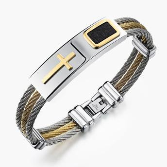 pulseira masculina de metal