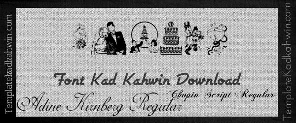 Font Kad Kahwin Download
