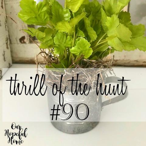 faux herbs tin cup