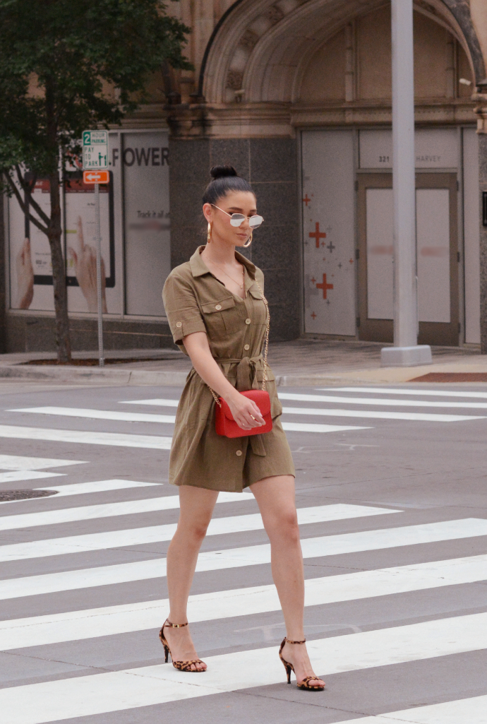 Utility Shirt Dress, Khaki