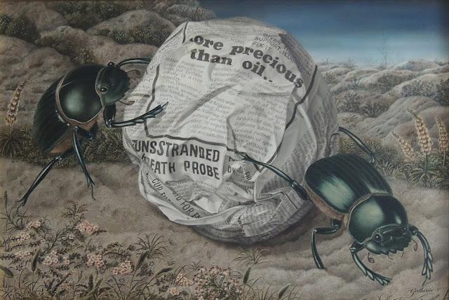 Gervasio Gallardo pintura surrealismo ironía